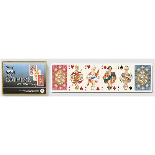 PIATNIK Coffret de 2 jeux de cartes EMPIRE Multicolore