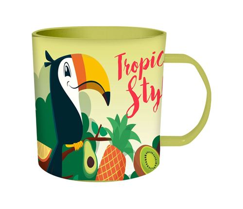 Kids Licensing tasse à micro-ondes Tropical Style Toucan junior 340 ml