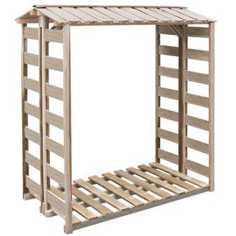 vidaxl abri de stockage du bois de chauffage pin impr gn cabane de jardin accessoires. Black Bedroom Furniture Sets. Home Design Ideas