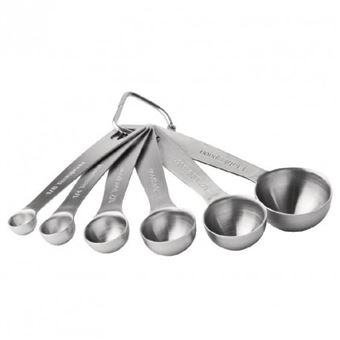 Kitchen Craft quatre pièces Cuillère mesure Set en acier inoxydable NEUF