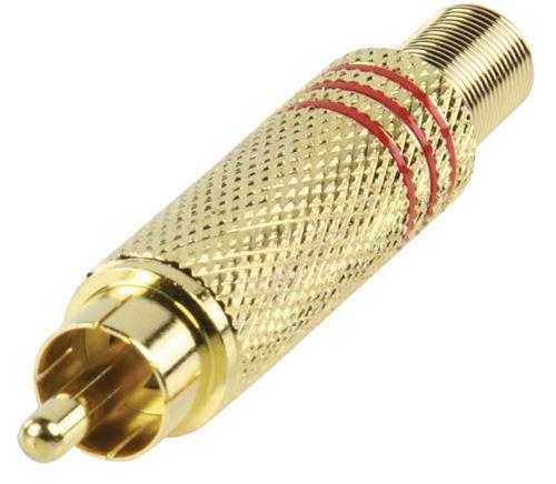 Valueline Cc-011r Rca Plug Rouge Doré
