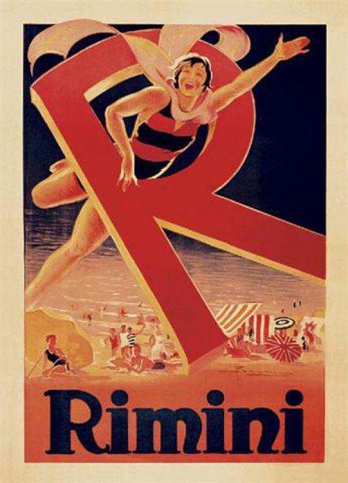 Adolfo Busi Poster Reproduction Rimini 1929 80x60 cm