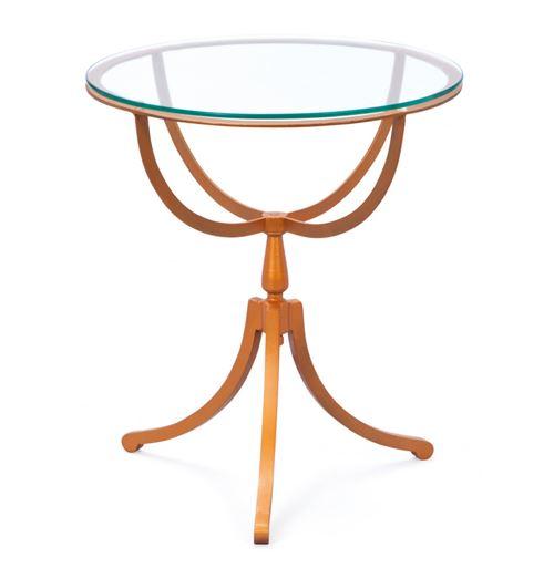 Table Southport - 50 x 55 cm - Métal et verre