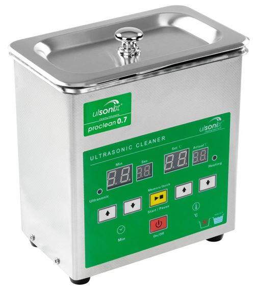 Nettoyeur à ultrasons acier inoxydable professionnel 0.7 litres