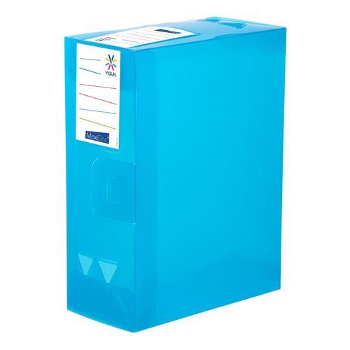 Viquel Boîte de classement et archivage maxi format - Dos de 12 cm Bleu