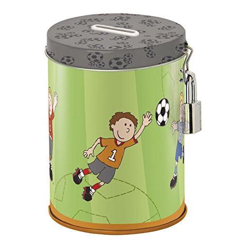 Sigikid - 24734 - Enfant Garçon - Tirelire Fantaisie Football - Kily Keeper - Vert/Gris