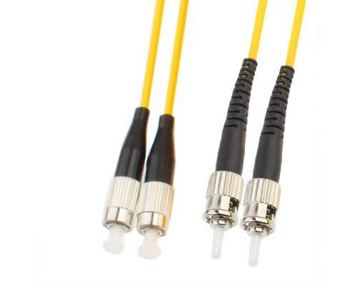 (#26) FC-ST Dual-Core Single Mode Fiber Optic Jumper,Length: 3m
