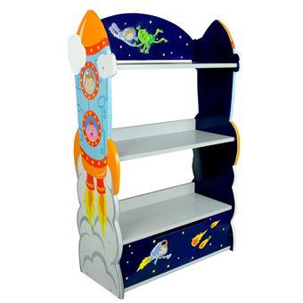 meuble bibliothque tagre 1 tiroir rangement livre jouet enfant bois outer space etagres enfant achat prix fnac