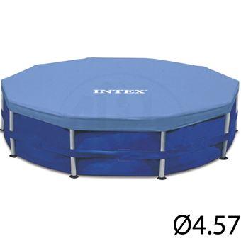 Bâche hiver pour piscine tubulaire ronde Intex Ø4,57 m Bleu