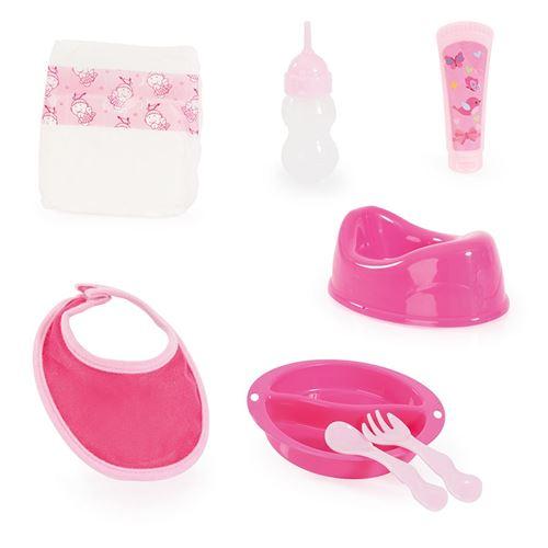 Bayer bébé poupée accessoire rose / 8 pièces blanches