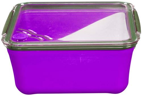 Take Away - Grande lunch box avec compartiment amovible Violet