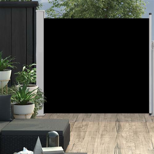 Auvent latéral rétractable de patio 170x300 cm Noir