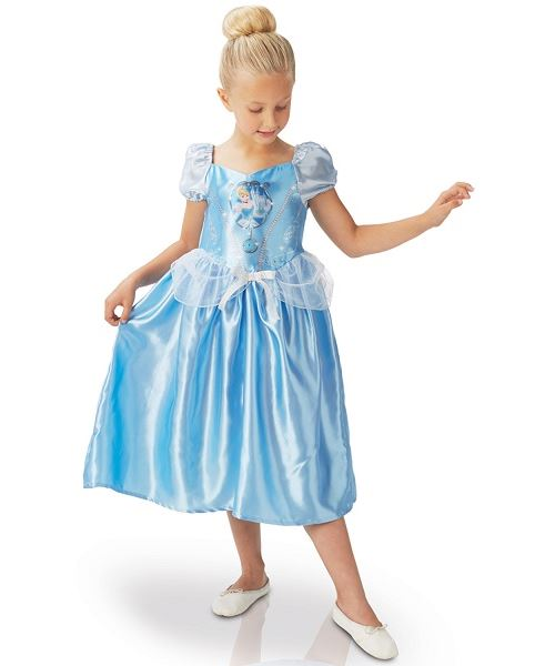Déguisement cendrillon classique taille 5/6 ans - disney princess