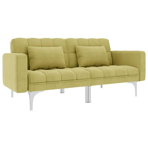 Canapé-lit Vert Tissu