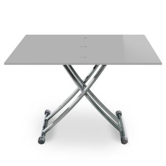 Table Basse Relevable Extensible First Gris Laqué