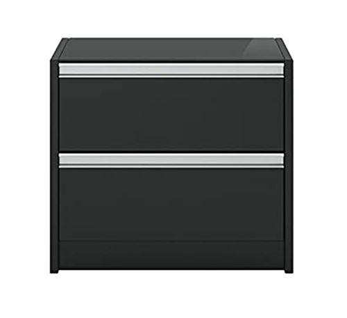 Table de chevet coloris café noir - 45.6 x 52 x 40 cm -PEGANE-