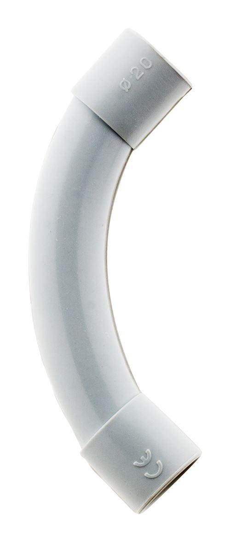 2 courbes IRL Ø20mm Gris