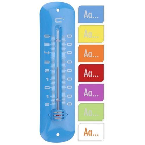 Thermometre De Maison Metal 19 X 5 Cm Colore Deco