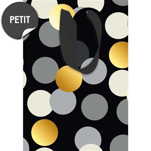 Draeger la carterie Sac Cadeau Petit format Pois Black and Gold Multicolore