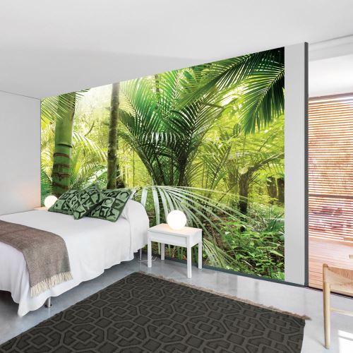 300x210 Papier peint Arbres et Forêt Paysages Moderne Green alley