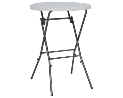 Table de bar pliante HDPE 80 x 110 cm Blanc alsa