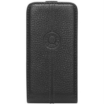 Faconnable Etui Coque cuir pour iPhone 5 et iPhone SE Noir