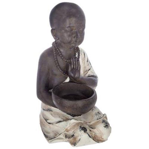 Statuette de Bouddha Assis Résine 34cm Noir