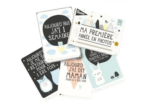 Milestone Cards - Cartes bébé Milestone-Collection Over the moon