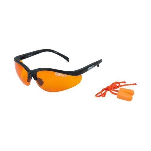 KS Tools Lunettes de sécurité avec bouchons d'oreille Orange 310.0161