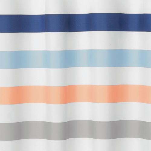 Rideau de douche multicolore - motif rayé