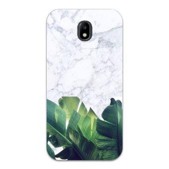 Coque Galaxy J3 2017 Marbre blanc jungle tropical