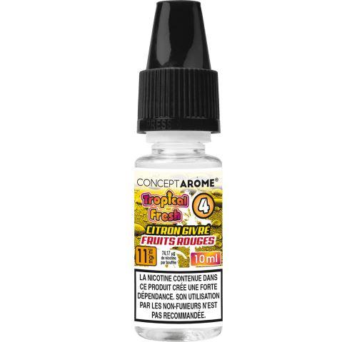 Conceptarôme - E-liquide Tropical Fresh N°4 - 11 mg.