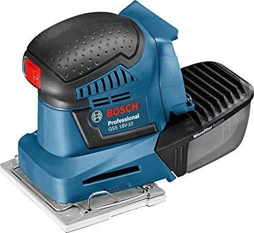 Bosch Professional Ponceuse Vibrante sans-fil GSS 18V-10 (sans Batterie, 18 V, Régime à Vide: 11 000 tr / min, Carton)