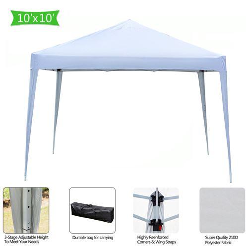 3 x 3 m Tonnelle de Jardin Pliable Tente de Jardin Protection UV pour Mariage,fête,Camping Blanc