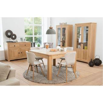 Table carrée BOSTON - bois chêne clair massif - Achat & prix | fnac