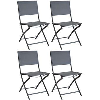 de DreamLot Proloisirs et Chaise en acier toile pliante WEDH9I2