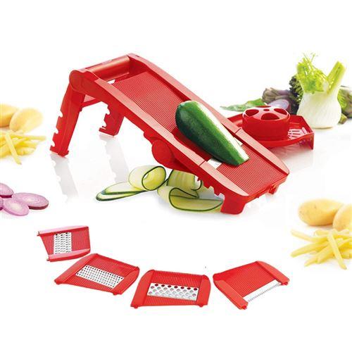 Mastrad - Mandoline Multi-lames Et Râpes - Rouge