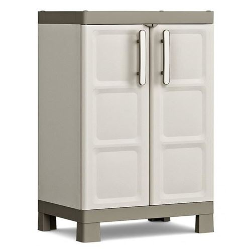 keter armoire basse excellence - beige et taupe - 65 x 45 x 97 cm