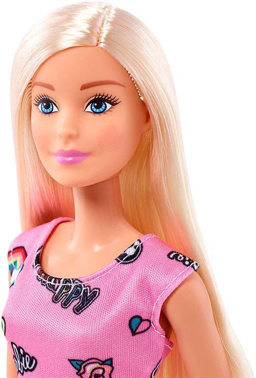 Pour BlanchesJouet Chic Avec Et Rose Robe Barbie Blonde Poupée EnfantFjf13 Chaussures vNnm8w0