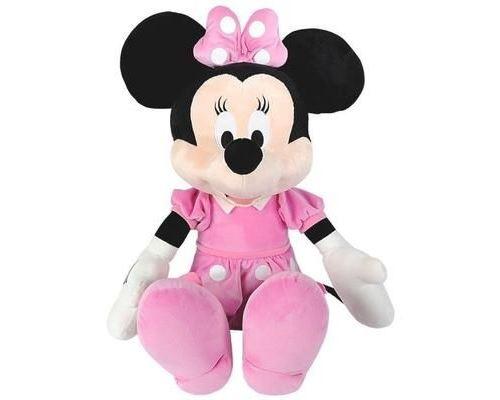 Disney Minnie Mouse - XXL Peluche Minnie - Matériau Softwool 61cm