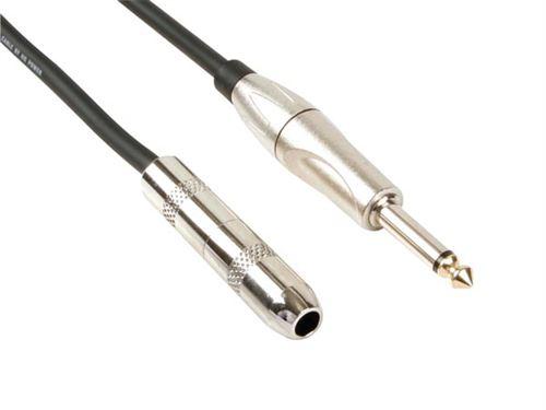 Câle Professionnel Audio, Fiche Mono 6.35mm Vers Jack Mono 6.35mm (5m)