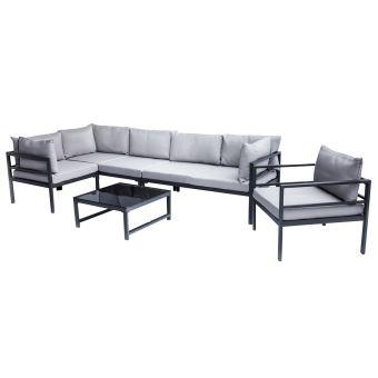 en de métal tablecanapé et d'angle fauteuil Salon SALENTO avec jardin dCsQhrt