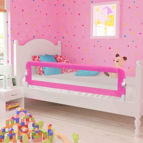 Barrières de lit pour enfants 150 x 42 cm Rose | Rose