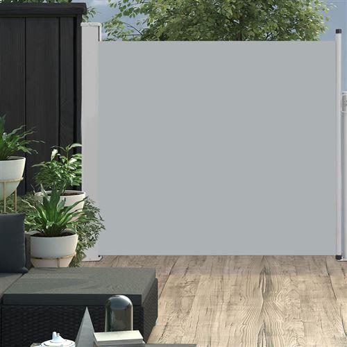 Auvent latéral rétractable de patio 170x300 cm Gris