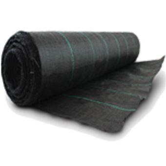 Bâche anti mauvaises herbes, robuste, 100cm x 10m, 100g/m² noir ...