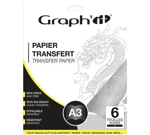 Papier transfert Graph'it - Noir - A3 - 6 feuilles
