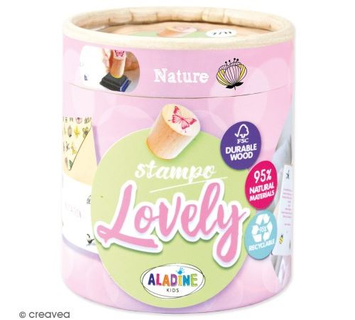 Kit de tampons bois Stampo Lovely - Nature - 15 pcs
