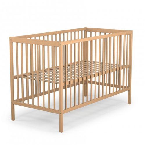 Lit bébé hauteur réglable bois naturel 60x120 - Terre de Nuit