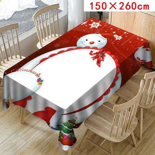 Nappe de Noël Imprimer Rectangle Table Cover Holiday Party Home Decor_Kiliaadk365