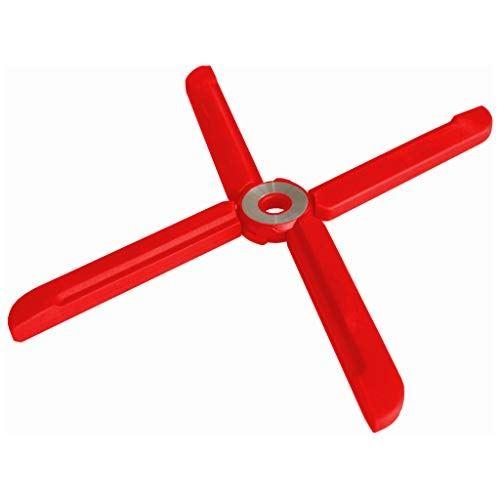 Wedo 206300102 dessous de plat pliable en silicone et acier inoxydable rouge ø 25 cm résistant à la chaleur jusquà 230 °c 22 x